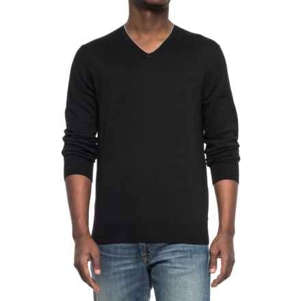 Specially made V-Neck Knit Sweater (For Men) in Black - 2nds