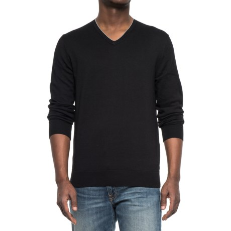 Specially made V-Neck Knit Sweater (For Men) in Black