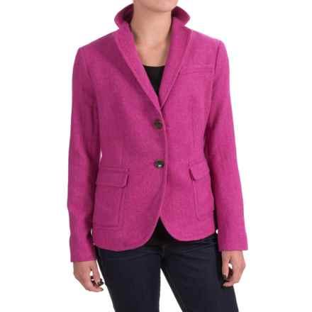 Specially made Wool-Blend Blazer (For Women) in Fuschia Herringbone - 2nds