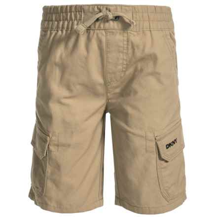 Specially made Woven Cargo Shorts (For Big Boys) in Khaki - Closeouts