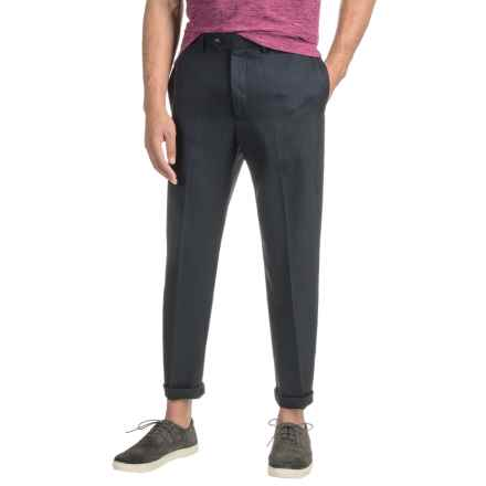 Specially made Woven Dress Pants (For Men) in Navy - 2nds