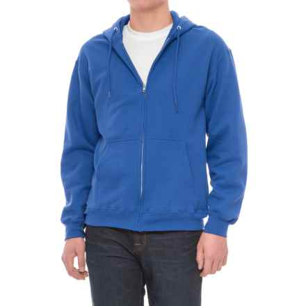 Specially made Zip Fleece Hoodie (For Men) in Blue - Closeouts