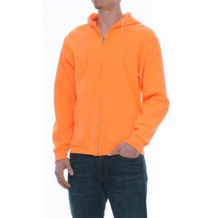 Specially made Zip Fleece Hoodie (For Men) in Orange - Closeouts
