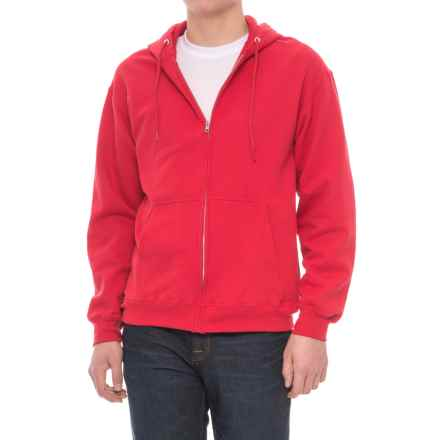 Specially made Zip Fleece Hoodie (For Men) in Red - Closeouts