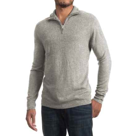 Specially made Zip Neck Sweater (For Men) in Light Grey - 2nds
