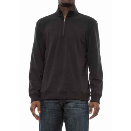 Specially made Zip Neck Sweatshirt (For Men) in Black - 2nds