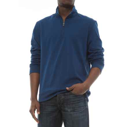 Specially made Zip Neck Sweatshirt (For Men) in Blue - 2nds
