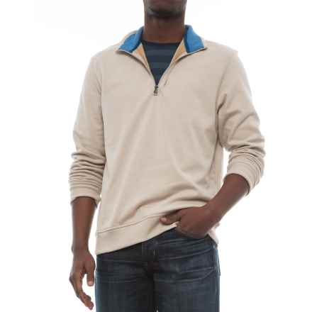 Specially made Zip Neck Sweatshirt (For Men) in Oatmeal - 2nds