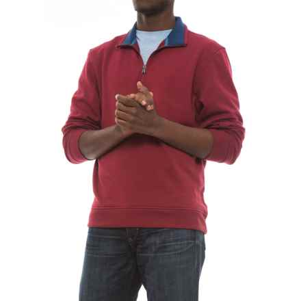 Specially made Zip Neck Sweatshirt (For Men) in Red - 2nds