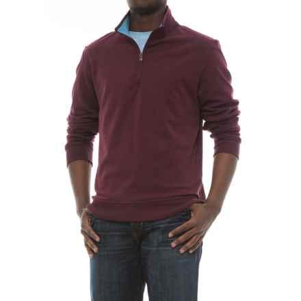 Specially made Zip Neck Sweatshirt (For Men) in Wine - 2nds