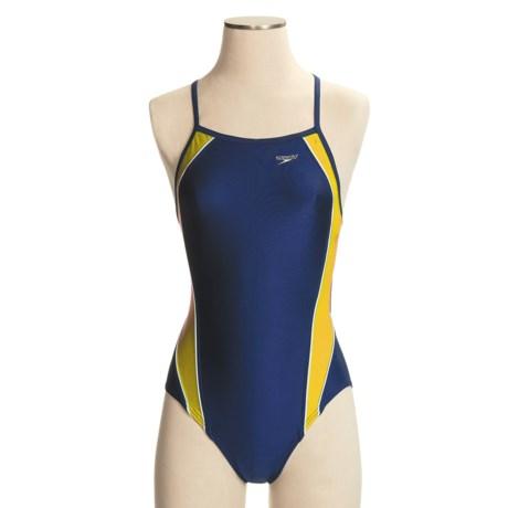 Speedo Axcel Team Splice Swimsuit - 1-Piece, Axcel Back (For Women)