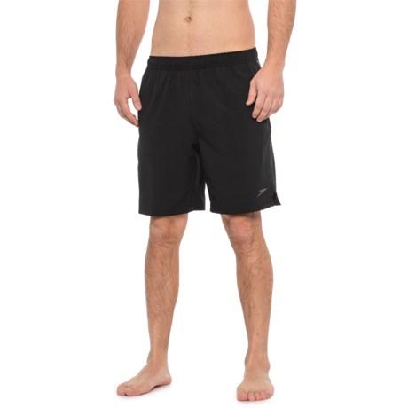 087fa953e6 Speedo Black Active Flex Solid Tech Volley Swim Trunks (For Men) in Speedo  Black