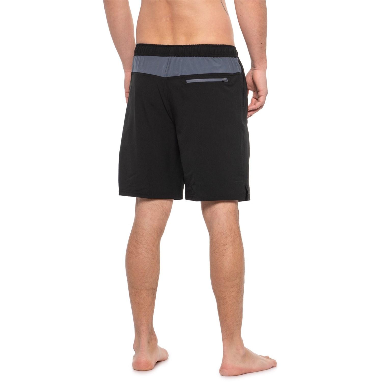 6e2234275e Speedo Black Active Flex Solid Tech Volley Swim Trunks (For Men ...