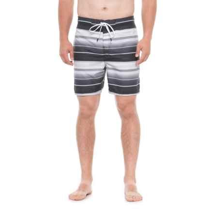 175ea838f2 Speedo Black Timeoff Stripe Eboard Boardshorts (For Men) in Black -  Closeouts