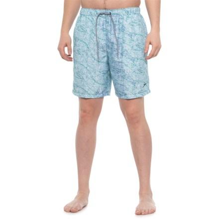 4589c73f5eada Speedo Blue Tint Tidal Swirl Volley Swim Trunks - Built-In Brief (For Men