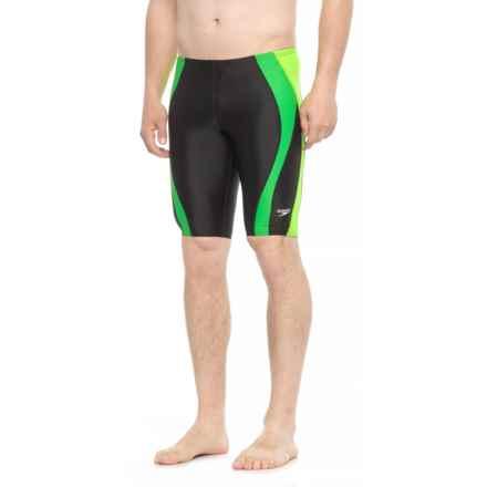 Speedo Color-Block Jammer Swimsuit (For Men) in Green - Closeouts