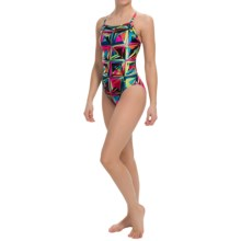 Speedo Color Shards High-Performance Swimsuit - Fly Back (For Women) in Multi - Closeouts