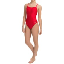 Speedo Core Flyback Swimsuit (For Women) in Red/Navy - Closeouts