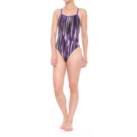 Speedo Deep Within One-Piece Flyback Swimsuit (For Women) in Purple - Closeouts