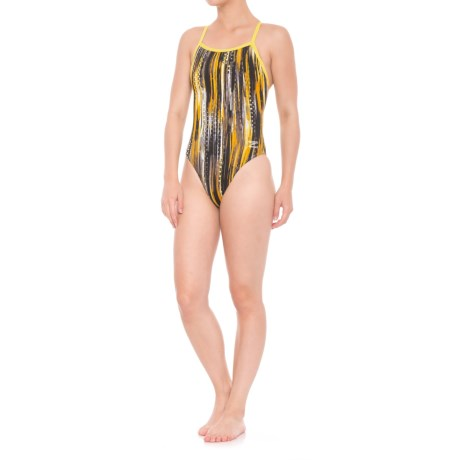 Speedo Deep Within One-Piece Flyback Swimsuit (For Women) in Yellow