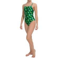 Speedo Echo One-Piece Swimsuit - Energy Back (For Women) in Kelly Green - Closeouts