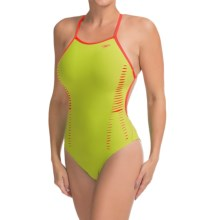Speedo Extreme Back Laser Cut Swimsuit (For Women) in Vibrant Lime - Closeouts