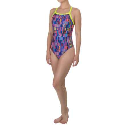 Speedo Flipturns Propel-Back Competition Swimsuit (For Women) in Speedo Purple - Closeouts