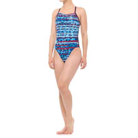 Speedo Got You Cross-Back Competition Swimsuit (For Women) in Navy - Closeouts