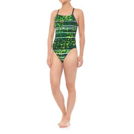Speedo Got You Crossback-A Competition Swimsuit (For Women) in Speedo Green - Closeouts