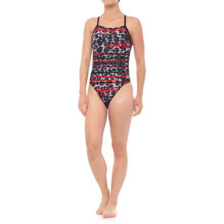 Speedo Got You Crossback Swimsuit (For Women) in Red - Closeouts
