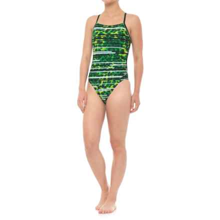 Speedo Got You Crossback Swimsuit (For Women) in Speedo Green - Closeouts