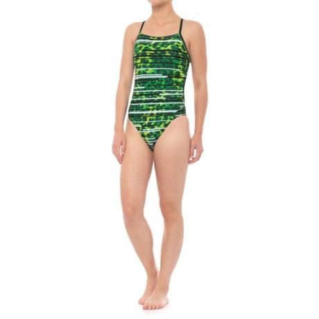 Speedo Got You Crossback Swimsuit (For Women) in Speedo Green