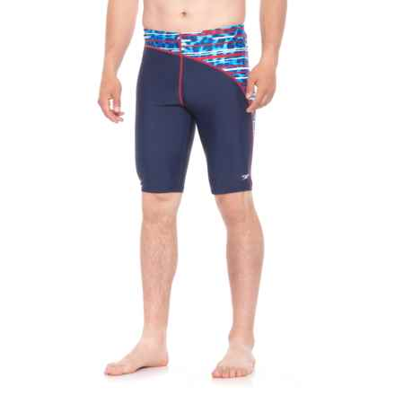 Speedo Got You Jammer Swimsuit (For Men) in Blue/White - Closeouts