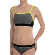 Speedo Heathered Clip Back Bikini (For Women) in Black - Closeouts