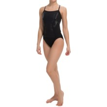 Speedo Hydralign Training Swimsuit - Cross Back (For Women) in Black - Closeouts