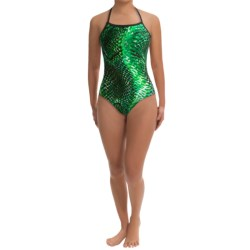 Speedo Mighty Python  One-Piece Swimsuit - Flyback (For Women) in Kelly Green