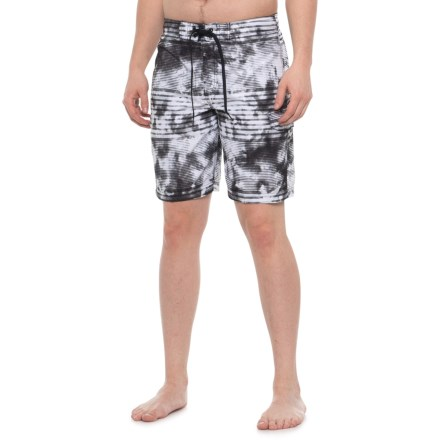 f95474a2b2 Speedo Misty Black E-Board Swim Trunks - Built-In Brief (For Men