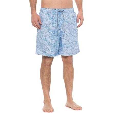 8175fc3769 Speedo Navy White Tidal Swirl Volley Swim Trunks - Built-In Brief (For Men