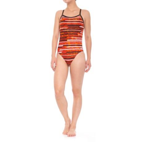 Speedo PowerFLEX Eco Got You Flyback Competition Swimsuit (For Women) in Speedo Orange