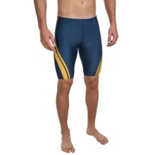 Speedo Quantum Spliced Jammer Swimsuit (For Men) in Navy/Gold - Closeouts
