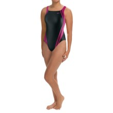 Speedo Quantum Spliced Super Pro Back Swimsuit - 1-Piece (For Women) in Black/Hot Pink - Closeouts
