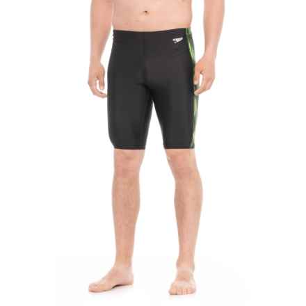 Speedo Reflecting Lights Jammer Swimsuit (For Men) in Speedo Green - Closeouts