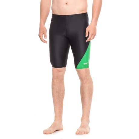 Speedo Revolve Splice Jammer Swimsuit (For Men) in Green