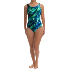 Speedo Rhythm Ripples Super Pro Back Swimsuit - 1-Piece (For Women) in Blue/Green - Closeouts