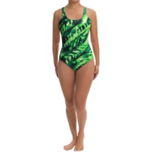 Speedo Rhythm Ripples Super Pro Back Swimsuit - 1-Piece (For Women) in Kelly Green - Closeouts