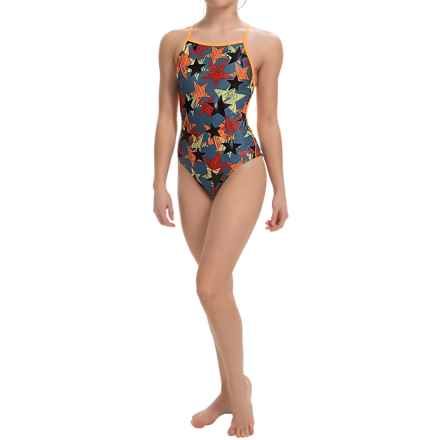 Speedo Star Brite Swimsuit - Extreme Back (For Women) in Multi - Closeouts