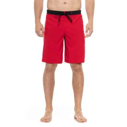 Speedo Stretch Tech Boardshorts - UPF 50 (For Men) in Red - Closeouts