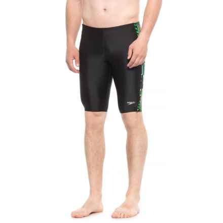Speedo Trippy Stripe Jammer Swimsuit (For Men) in Green - Closeouts
