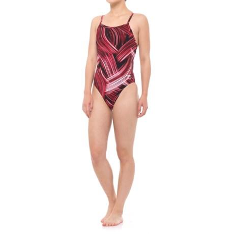 Speedo Turbo Stroke Fly ADT One-Piece Bathing Suit (For Women) in Red