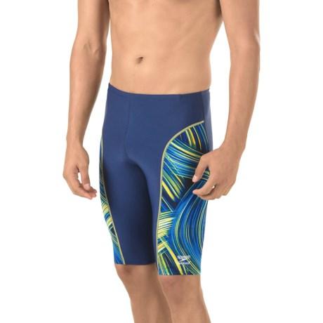 Speedo Turbo Stroke Jammer Swimsuit (For Men) in Sapphire